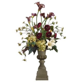 Tori Home 37 Calla Lily, Hydrangea and Lily Floral Arrangement with