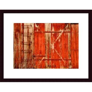 Barewalls Red Boxcar Metal Framed Art Print   474917S60 / 474917S60