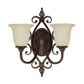 Capital Lighting Manchester Two Light Wall Sconce with Rust Scavo