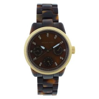 Michael Kors Womens Ritz Watch with Brown Dial