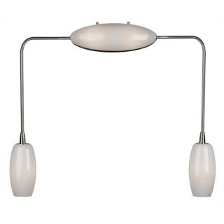 Solutions Vanity Light in Satin Nickel with Bell Shaped Diffusers