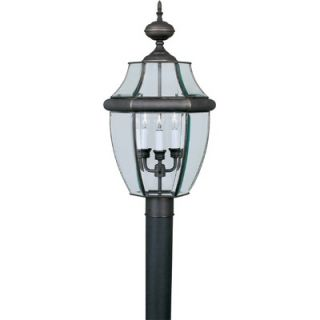 Forte Lighting Three Light Outdoor Post Lantern   1604 03 14 / 1604