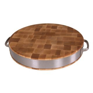 BoosBlock Maple Cutting Board with Stainless Steel Band