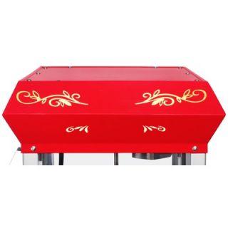 Great Northern Popcorn All Star 8 Oz Popcorn Machine in Red