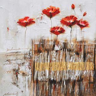 Yosemite Home Decor Poppies in the Field Red II Canvas Art   FCB4516