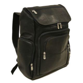 Piel Entrepreneur Multi Pocket Laptop Backpack in Black   2834 BLK