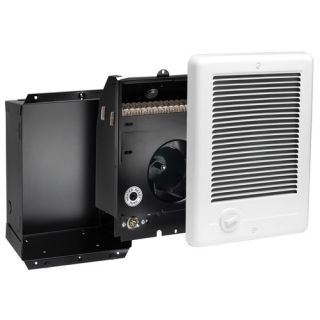 240V Register Plus Fan Forced Wall Heater in White
