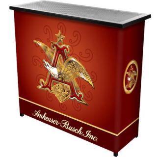 Trademark Global Anheuser Busch A and Eagle 2 Shelf Portable Bar Case