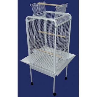YML Play Top Parrot Bird Cage in White   EF2222WHT