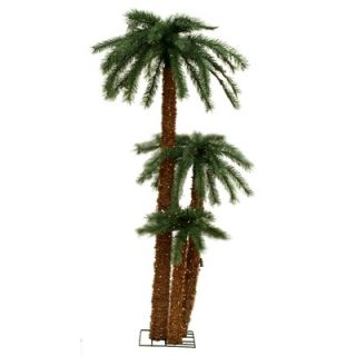 Vickerman Triple Palm Tree with Clear Lights