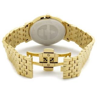 Jacques Lemans Mens Genève / Baca Stainless Steel White Dial Gold