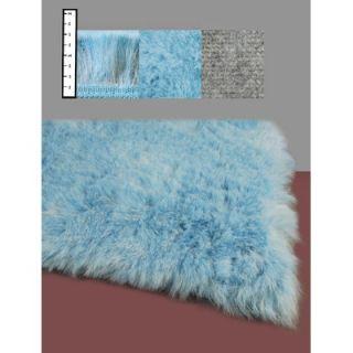 IXI Eros Faux Flokati Blue Rug