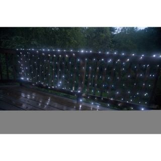 Mr. Light 200 LED Solar Net Lights with Green Wire in Bright White
