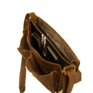Le Donne Leather Distressed Leather Quick Access Messenger   DS 202