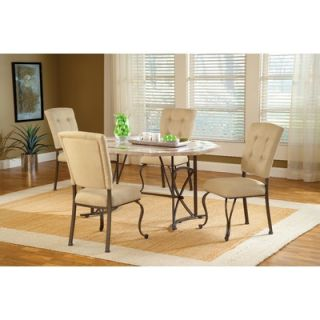 Hillsdale Harbour Point 5 Piece Octagon Dining Set with Parson Chair