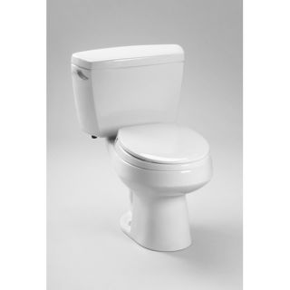 Carusoe 1.6 GPF Toilet with Insulated Tank and Bolt Down Lid