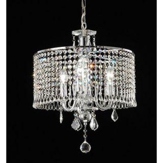 Warehouse of Tiffany 3 Light Crystal Drum Foyer Pendant   RL8310/3
