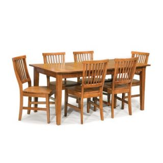 Home Styles Arts and Crafts 7 Piece Dining Set   5180 Cottage Oak