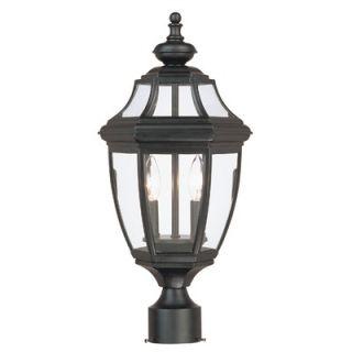 Savoy House Endorado2 Light Post Lantern   5 497 BK