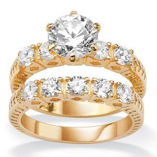 Palm Beach Jewelry 18k Gold/Silver Multi Stone Cubic Zirconia Wedding