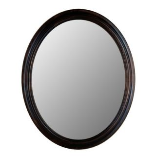 Hitchcock Butterfield Company Traditional Series Oval Mirror in Dark