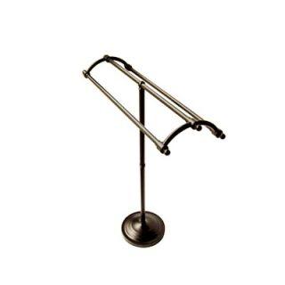 Elements of Design Vintage Pedestal Round Plate Towel Rack