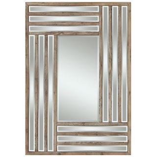 Cooper Classics Kona Round Mirror in Natural Rustic