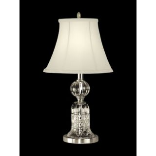 Dale Tiffany One Light Crystal Table Lamp in Satin Nickel