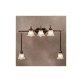Kichler Polygon Vanity Light with Swag in Oiled Bronze