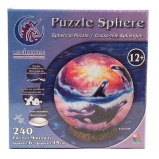 Puzzle Sphere Orca Sunset 240 Piece Jigsaw Puzzle