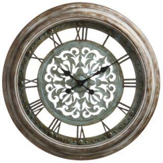 Cooper Classics Claudia Wall Clock in Distressed Aged Copper