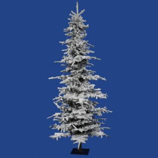 Vickerman Flocked Georian Fir 6 Artificial Christmas Tree