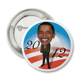 2012 Obama Cartoon Pins