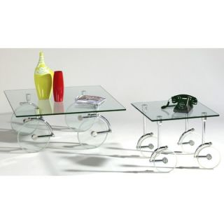 Chintaly Cocktail Table Set   1105 CT T / 1105 CT B