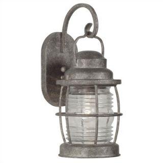 Kenroy Home Beacon Medium Wall Lantern in Solid Brass Flint