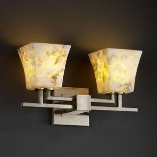Justice Design Group Alabaster Rocks Aero Two Light Bath Vanity