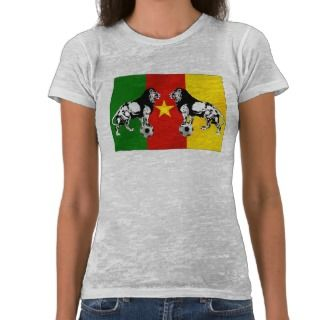 Les Lions Indomables Cameroun 2010 Tshirts