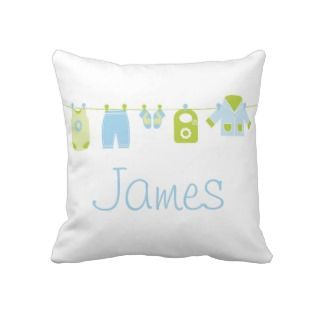 Blue Baby Boy Clothes, Clothesline Pillows