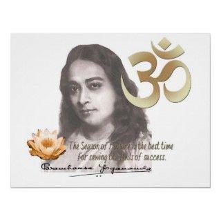 15.The Om Aum Symbol Paramahansa Yogananda Quote Poster