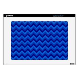 Blue Zig Zag Pattern. 15 Laptop Decals