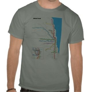 Chicago L Transit Subway Railroad System tee shirt