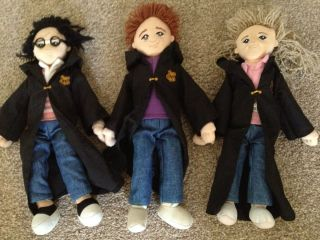 HARRY POTTER VERY RARE RON WEASLEY HERMIONE GRANGER RAG DOLL SOFT