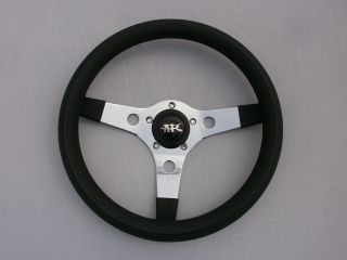 car yamaha steering wheel golf cart custom Chrome 3 spoke