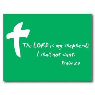 Salmo 23: El señor es mi pastor Postales de