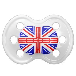 Cool Tribal tattoo British flag Pacifier
