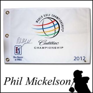 Signed 2012 DORAL World Golf Championship Pin Flag Masters Champ