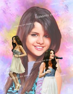 Selena Gomez Concert Poster Painting Canvas 21x28x1 5