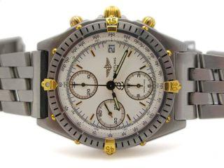 Breitling Windrider Chronomat Stainless Steel Chronograph 18k Gold