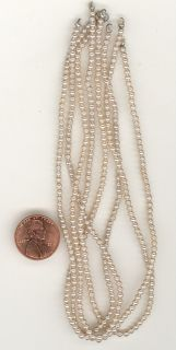 Gross Vintage Miriam Haskell 2 5mm Smooth Cream Glass Pearls from