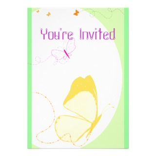 Butterfly Trails Birthday Party Invitation